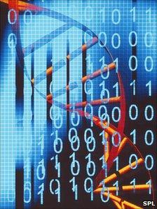 DNA and digital information artwork