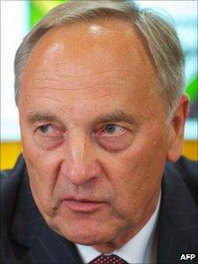 Andris Berzins, Latvian president-elect