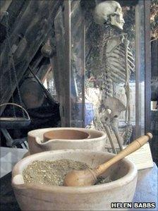 Dried Herbs and bowls
