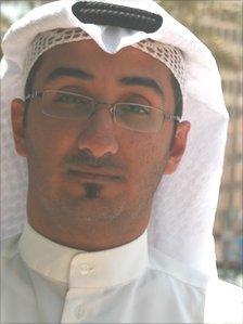 Nawaf Al Bader of the Kuwaiti Bidun Gathering, a group representing the community