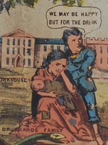 Part of a temperance poster from 1880, published in Ruabon, Denbighshire