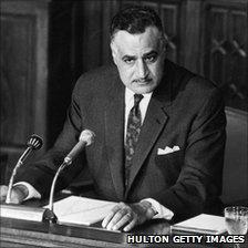 Gamal Abdel Nasser in Cairo, 1967