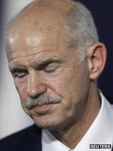 Greek Prime Minister George Papandreou (2 Nov 2011)