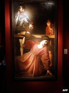 The painting The Carrying of the Cross by French artist Nicolas Tournier.