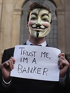 An Occupy London Stock Exchange protester