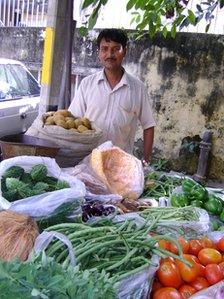 Delhi vegetable seller