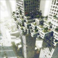 """Architect's image of """"pixelated cloud"""" apartment block planned to be built in Seoul, South Korea (image courtesy Yongsan Development Company)"""