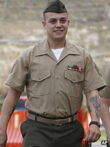 Sgt Frank Wuterich at Camp Pendleton, California