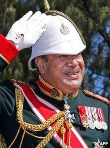 File photo of Tonga's King George Tupou V from August 2008