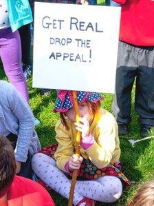 Protest agasint Portobello Park Action Group