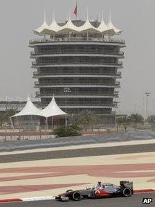 Practice session at the Bahrain International Circuit (20 April 2012)