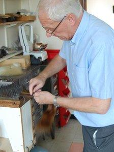 Alan Northcote of Banbury Postiche with hair sample