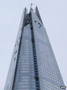 Prince Andrew abseiling down the Shard
