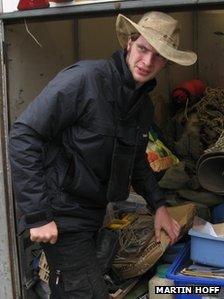 Ben Hudson by truck