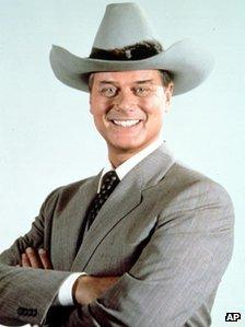 In this 1981 file photo originally provided by CBS, Larry Hagman, is shown in character as JR Ewing from Dallas