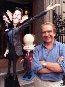 Gerald Scarfe with creations from the era of Tony Blair's government