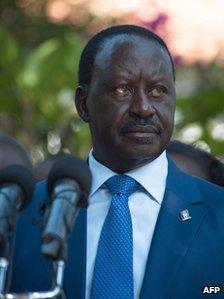 Raila Odinga in Nairobi, 9 March