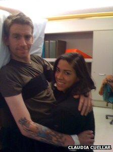Tomas Young and Claudia Cuellar