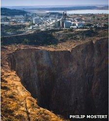 Cullinan mine in South Africa