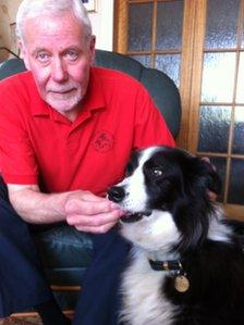 Douglas Ruthven from Canine Concern and Holly the collie