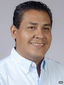 In this June 4, 2013 photo, Lenin Carballido poses for a portrait during his campaign in Oaxaca, Mexico
