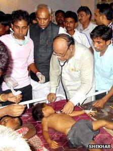 Sick children in Bihar