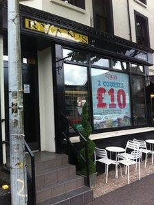 The staff discovered the lead had been stolen from the roof of Ryan's bar and restaurant
