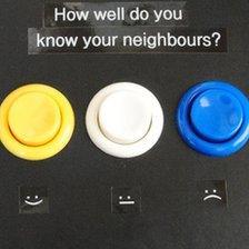 Electronic keypad used in Cambridge community experiment