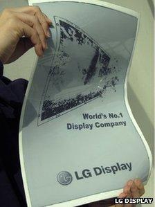 LG Displays, flexible display prototype