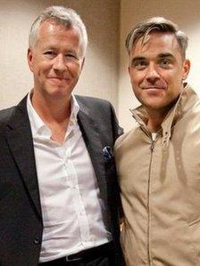 Robbie Williams with John Wilson