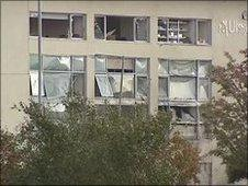 Ulster Bank damaged in explosion