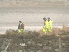 Rescuers at the loch