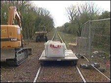 The disused railway line between Fareham and Gosport