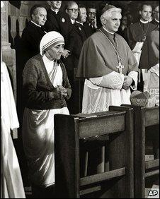 Cardinal Ratzinger with the late Mother Teresa in Freiburg, Germany, September 1978