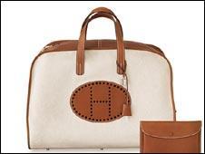 Hermes handbag and leather wallet