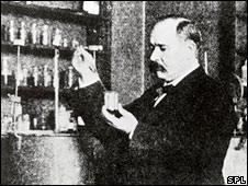 Svante Arrhenius in his lab
