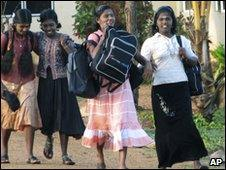 Former Sri Lankan child soldiers (file photo)