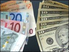 Euro and dollar notes