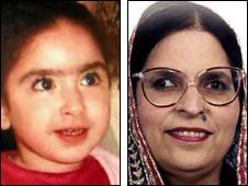 Alana Mian, aged four, and her grandmother Hameeda Begum