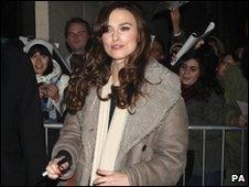Keira Knightley outside the Comedy Theatre