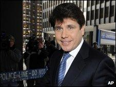 Former Illinois Governor Rod Blagojevich on 10 February 2010
