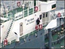 Peter Bethune on the Shonan Maru 2 (Sea Shepherd image)