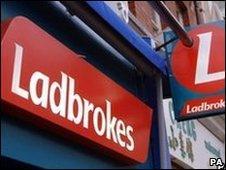 Ladbrokes sign
