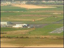 Lydd Airport aerial view