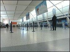 Empty EMA departure lounge