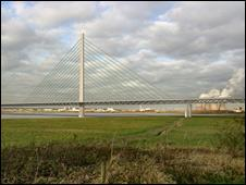 Computer-generated image of new bridge crossing