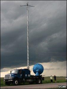 "A ""doppler on wheels"" radar (Image: UCAR)"