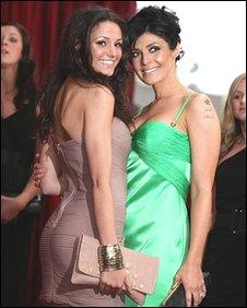 Michelle Keegan and Kym Marsh arrive for the awards