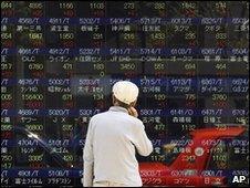 Stock screens in Asia