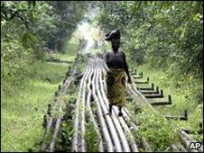 Nigerian oil pipes